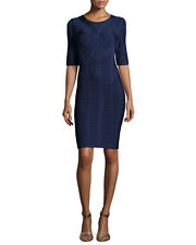 Herve Leger Helena Half-Sleeve Bandage Dress, Original:$1190.00  Size Lg