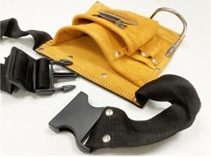 5 Pocket Leather Tool Pouch Suede Single Tool bag Tool Belt