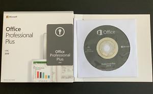 Microsoft Office 2019 Professional Plus Windows PC Retail Sealed Box DVD
