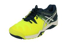 ASICS Mens Gel-resolution 6 Court Shoes Trainers Footwear Sports Blue  Yellow UK 6.5 709b61f9183