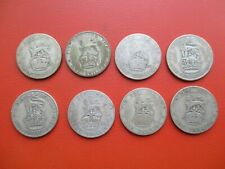 More details for pre 47 silver - 8 x george v shilling - 0.5 silver    (ref 500)