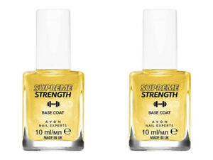 2 x AVON Nail Experts Supreme Strength Base Coat / 24k Gold Strength Base 2 x 10