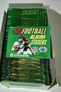 Original Box of Topps 1982 NFL Football Album Stickers - 100 Packs