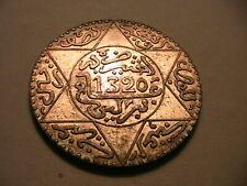 1320 Morocco 5 Dirhams Ch XF+/AU French Moroccan Africa Silver Maroc World Coin