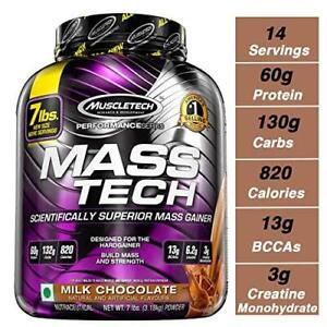 MuscleTech MASS TECH Performance Protein Lean Muscle Gainer - 7 lbs PICK FLAVOR
