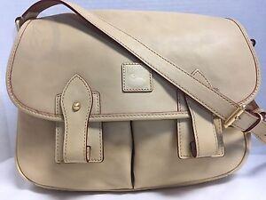 NWT*Dooney & Bourke*BONE*Florentine Leather*Saddle Bag*Messenger* #17120E S162