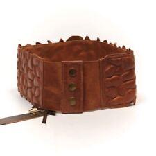Leather Patternless Regular Belts for Women