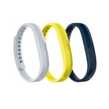 Fitbit Sport Band Set for Flex 2 Tracker, Large, 3 Pack (Navy/Gray/Yellow5