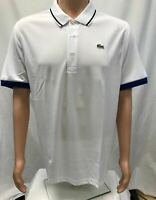 NWT Lacoste Sports Men's Ultra Dry Polyster Polo with ribbed collar, Sizes 5-8