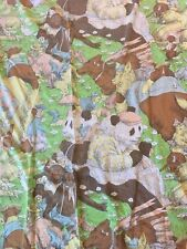 Rare Vintage Ray Cruz Monticello Twin Fitted Sheet Noahs Ark Animals Fabric