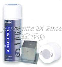 ACCIAIO INOX SPRAY PROFESSIONALE ML 400 Bomboletta Vernice Smalto Acrilico CAPEC