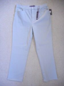 "NWT Womens Jeans-GLORIA VANDERBILT-lt gray stretch denim ""Amanda""-16"