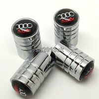 Audi car tyre valve dust caps pack of 4x metal alloy wheel valve caps