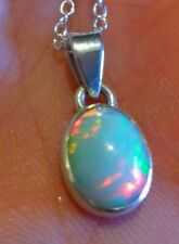 Pendentif Naturelle Opale Ethiopienne Wello Argent Sterling