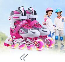 Kinder Inliner Skates verstellbar Größe 26-41 Inline Rollschuhe blinkende DHL