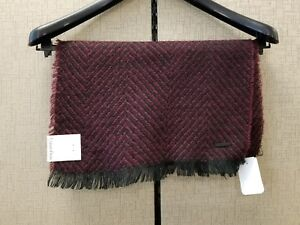 Calvin Klein NEW Red One-Size Colorblock Ombr Jacquard Muffler Scarf