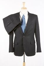 Mens ANDOVER SHOP Suit 38 R in Charcoal Gray Pinstripe Wool Flannel USA