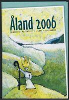 Aland Jahresmappe 2006 gestempelt incl. 2 MH