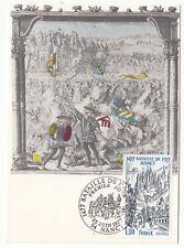 CARTE MAXIMUM FDC 1977 TIMBRE N° 1943 BATAILLE  NANCY MORT CHARLES LE TEMERAIRE