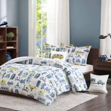 INK+IVY Kids Road Trip 3-piece Twin Kids Bedding Sets For Boys in White Blue