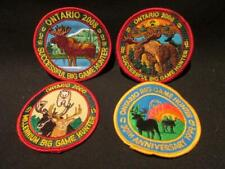 Ontario Big Game Hunter Group of 4 Embroidered Crests Patches