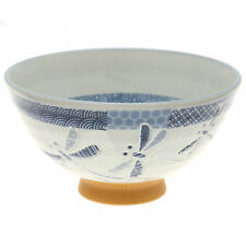 """10x Japanese 4""""Blue  Watercolor Flower  Rice BowlS #130-620"""