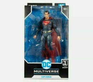 McFarlane DC Multiverse Justice League Superman Red/Blue Suit Action Figure New