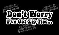 funny Zip Ties 4x4 truck Jeep rock crawler bouncer sticker / Decal