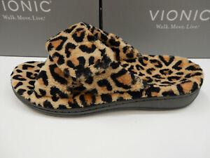 Vionic Womens Relax Slipper Natural Leopard 8