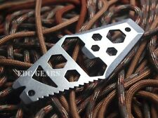 EDC Gear Multi tool Hex wrench Bottle opener Pry bar Nail puller Stainless steel
