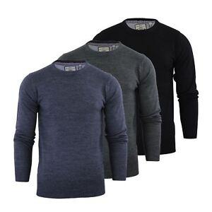 Brave Soul Urbain Mens Jumper Knitted Crew Neck Sweater