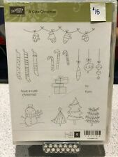 A Cute Christmas Stampin' Up! Clear Mount Stamp Set