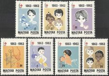 Hungary 1963 Red Cross/Medical/Health/Welfare/Medicine/Dentistry 7v set (n34944)