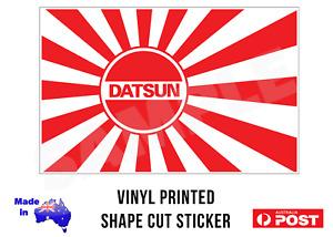 JDM DATSUN Rising Sun Vinyl Sticker Decal 140mm Wide