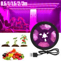 2835 LED Grow Strip Light Growing Lamp Full Spectrum USB For Indoor Plants
