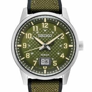 SEIKO SUR323P1 Gents Quartz Military Field Watch 2yr Warranty 100m WR RRP £200