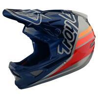 Troy Lee Designs D3 Fiberlite Helmet Silhouette Navy Silver Large
