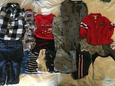 Lot of boys 6-12 month winter and fall clothing outfits bodysuits pajamas