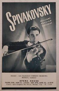 TOSSY SPIVAKOVSKY vintage classical handbill SF OPERA HOUSE violin strings