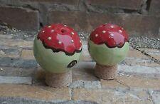 """Sale e Pepiera """"Sfera"""" in Ceramica come Set in fragola"""