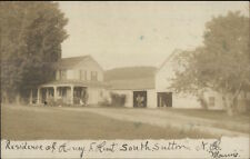 South Sutton NH Henry Hunt Home c1910 Real Photo Postcard