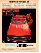 1967 CHEVROLET CAMARO SS/RS 350  ~  CLASSIC ORIGINAL MUSCLE CAR AD