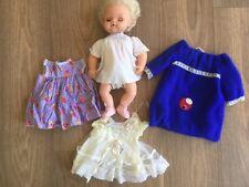 Vintage Tiny Tears Palitoy Doll Original /Wedding Dress 1970s & Cinderella shoes