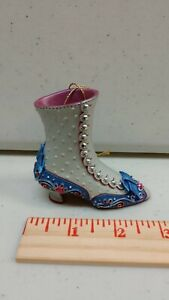 Ladies Victorian Boot Shoe Christmas Ornament - Heirloom Ornaments Brand