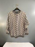 Tundra Canada 3D Textured Sweater Biggie Smalls Cosby Size XL Multi Color VTG