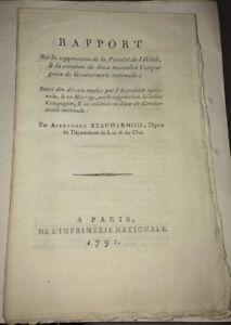 GENDARMERIE NATIONALE. 29 DOCUMENTS RÉVOLUTIONNAIRES. 1791-1793.