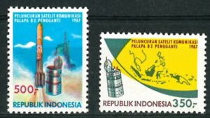 """INDONESIA OLD STAMPS 1987 - Launch of """"Palapa B2"""" Satellite - MNH"""