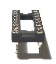 5pcs Ic Sockets Dip 16 Machined Round Contact Pins Holes 254mm Dip16 Dip 16