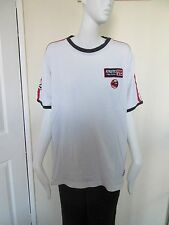 "GEORGE -  C,NECK - WHITE ""ATHLETIC"" SHORT SLEEVED  T-SHIRT Size L - 100% COTTON"