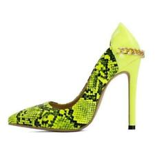 New Women's Pointy Toe Snake Skin Pattern Stiletto High Heels Pumps 48 49 50 L